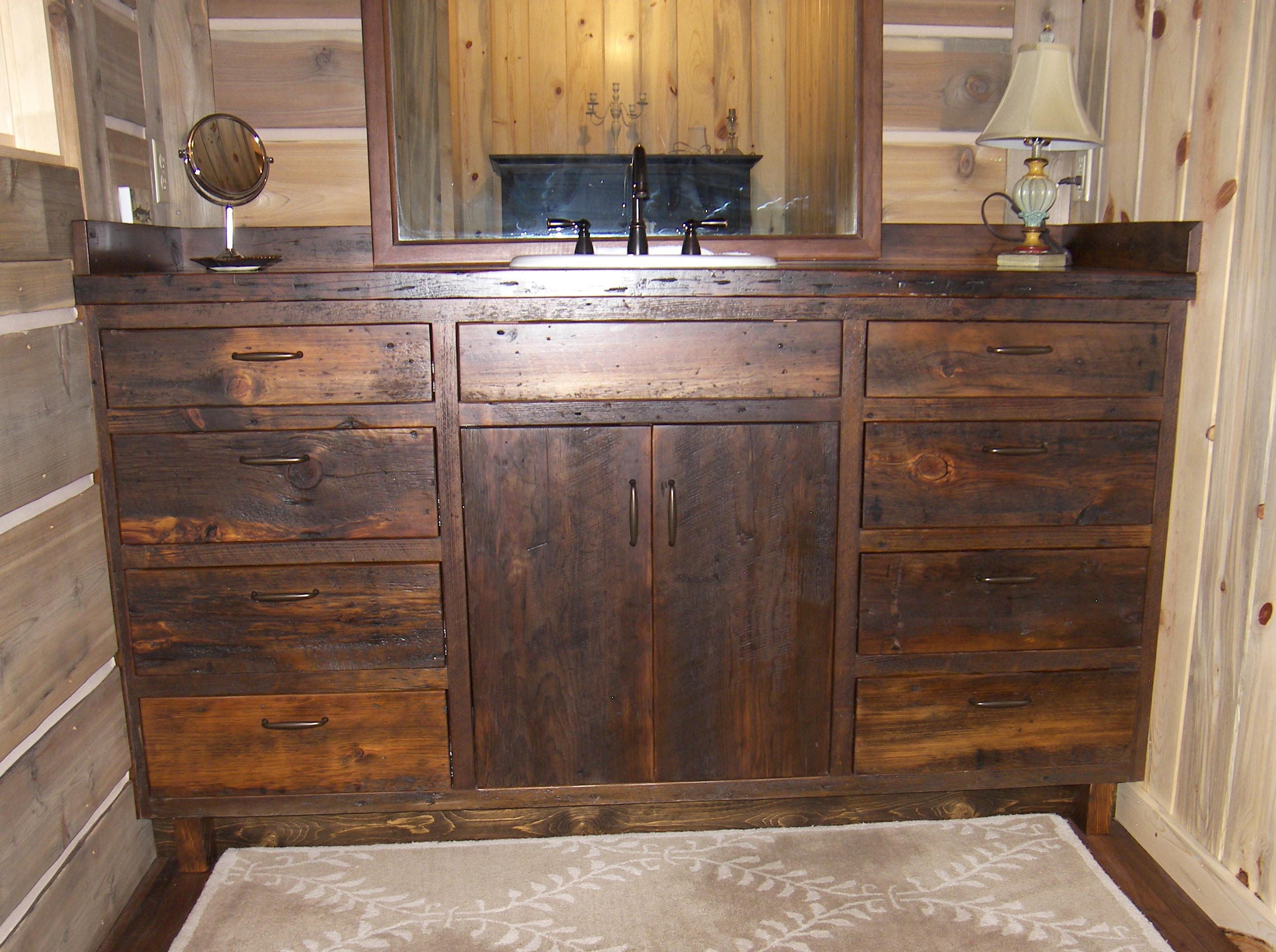 Douglas Fir Kitchen Cabinets Douglas Fir Barn Wood Vanity Cabinet Wyman Woodworks