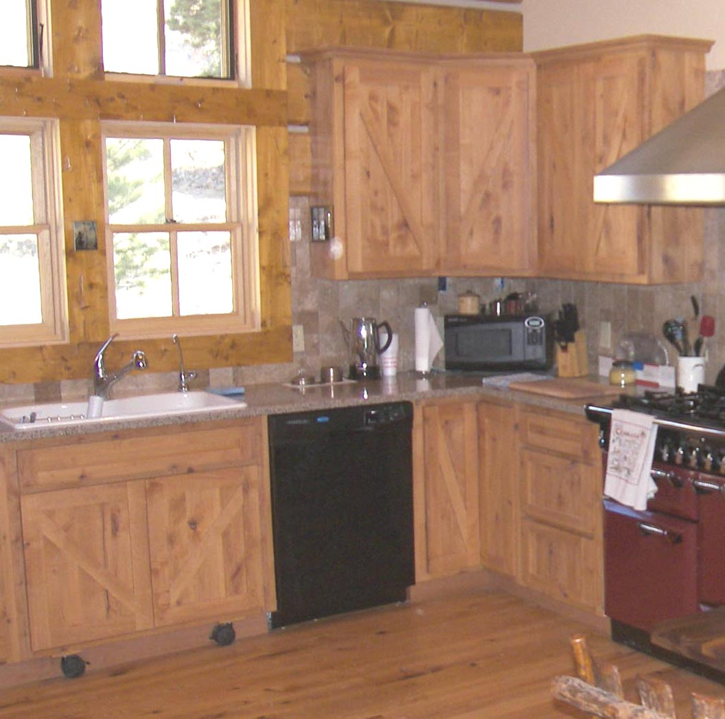 Western home alder wyman woodworks for Western kitchen cabinets