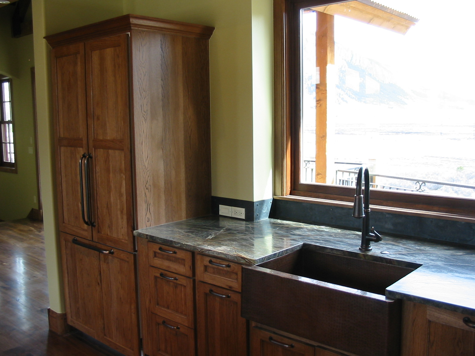 Rustic Hickory Cabinets Chestnut Stain Wyman Woodworks